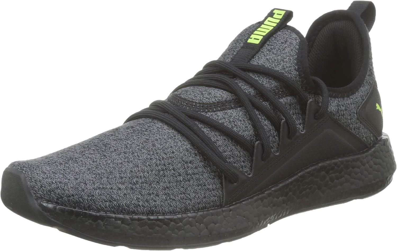 PUMA Men's Running Shoes, Black Yellow Alert