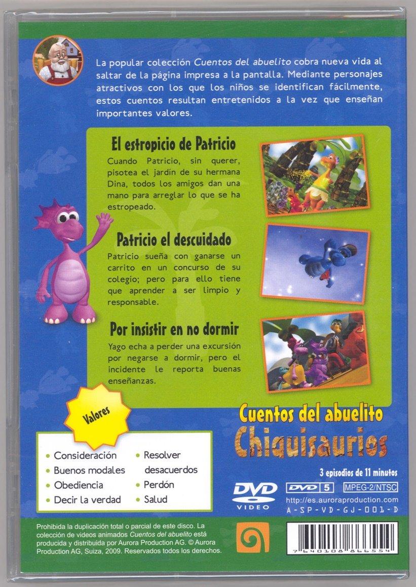 Amazon.com: Chiquisaurios DVD Cuentos del Abuelito Parte 1a Valores en Colores En Castellano (Espanol), Ingles, Frances y Portugues Para Ninos Aprender: ...