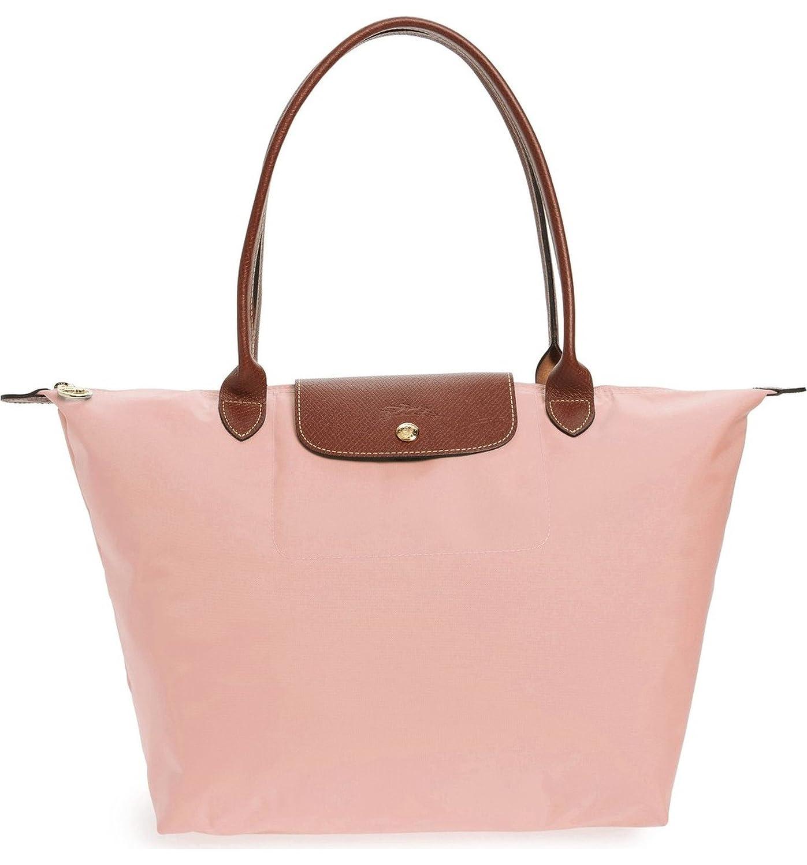 Amazon.com  Longchamp  Large  Le Pliage  Tote Shoulder Bag, Light Pink   Shoes 16424cac4b