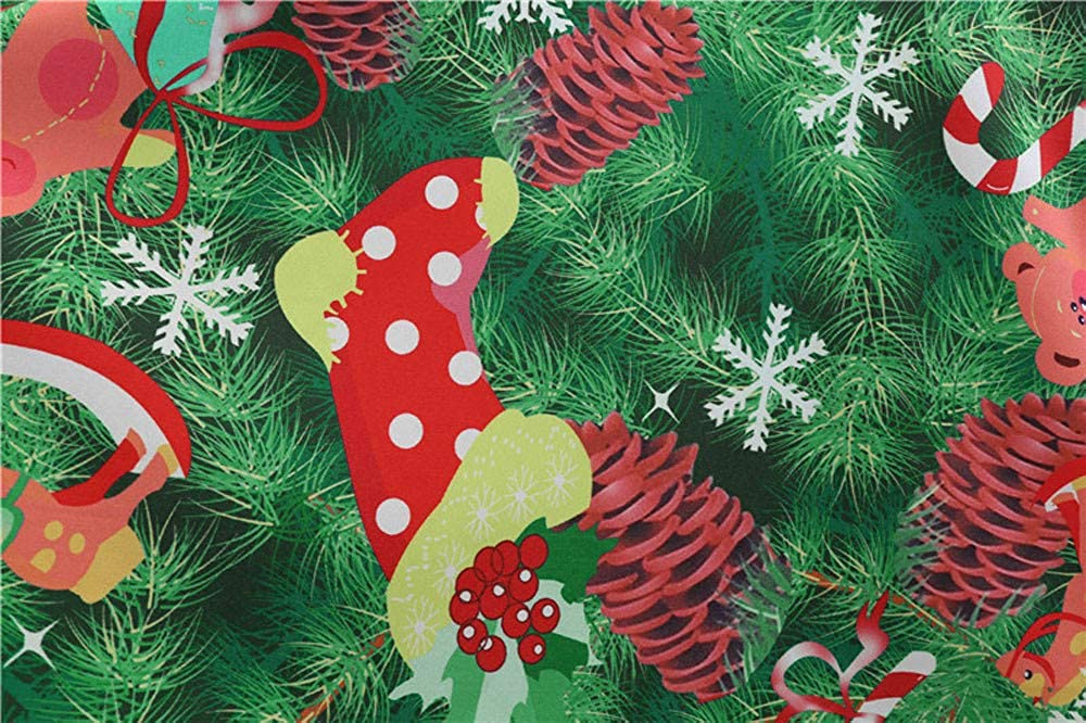 Donna Vestiti di Natale Lunga Maniche Abito Natale Vestito da Donna Stampa Natalizio Midi Abito Elegante Vintage Abiti da Santa Natale Party Festa Matrimonio Cocktail Swing Vestito