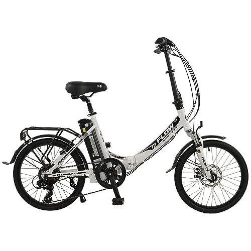 "Flow 20"" Unisex Alloy Low Step Folding Electric Bike, Grey"