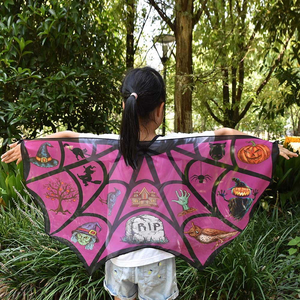 Memela Baby Clothes,Halloween Kids Cartoon Print Wings Shawl Scarves Poncho Costume Accessory