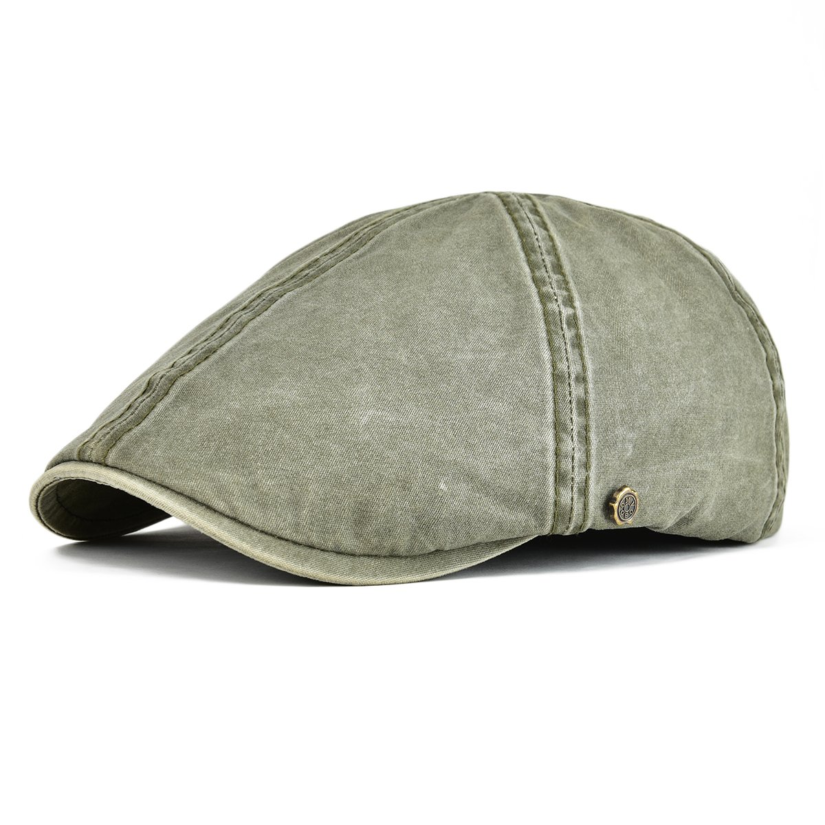 69b6132c63c VOBOOM Ivy Caps 100% Cotton Washed Plain Flat Caps Newsboy Caps Cabbie hat  at Amazon Men s Clothing store