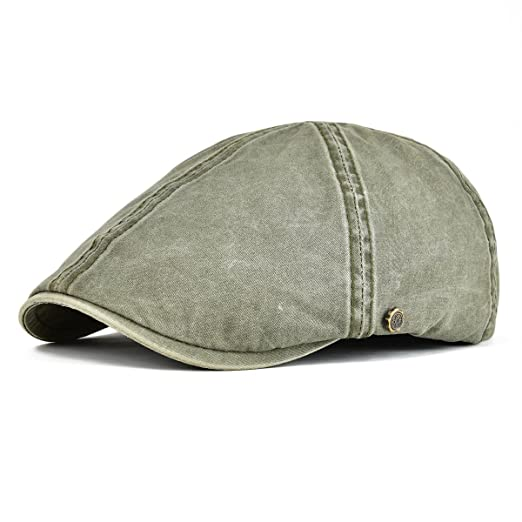 6a1c1586877 VOBOOM Ivy Caps 100% Cotton Washed Plain Flat Caps Newsboy Caps Cabbie hat  (57cm