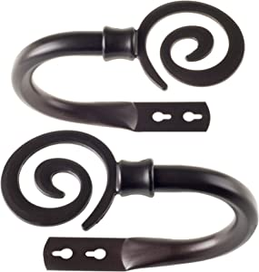 Lavish Home 63-19541A-BR Spiral Holdback Pair-Rubbed Bronze