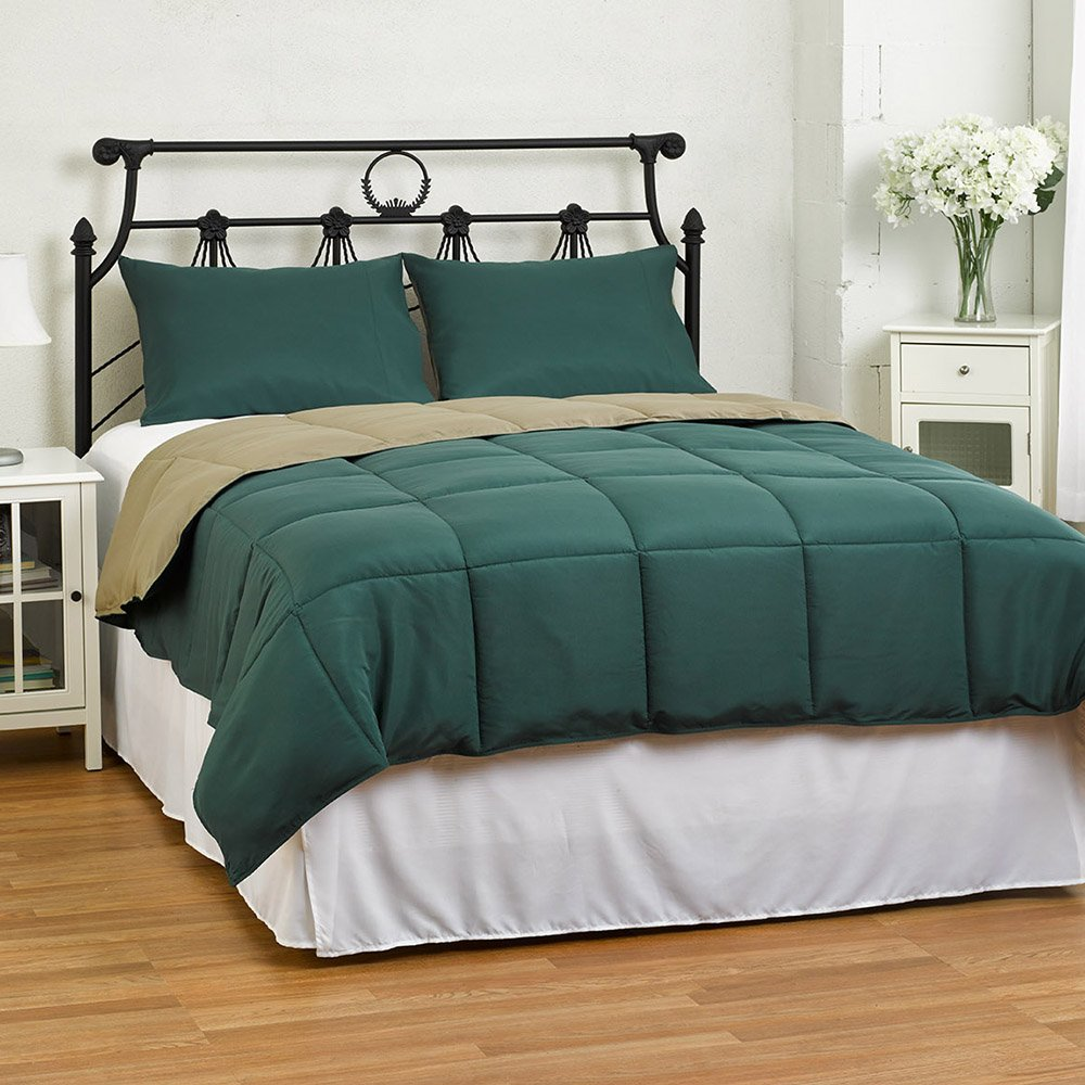 3-Piece Lightweight Reversible Down Alternative Summer Comforter Set