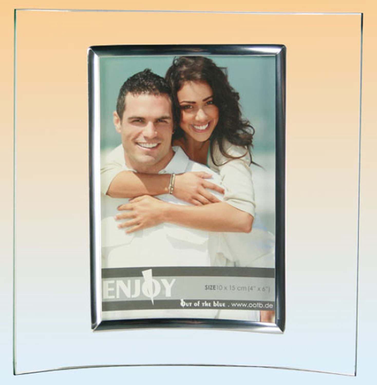 Amazon.de: Bilderrahmen Foto-Wechselrahmen 94-2101 10x15cm gebogen ...