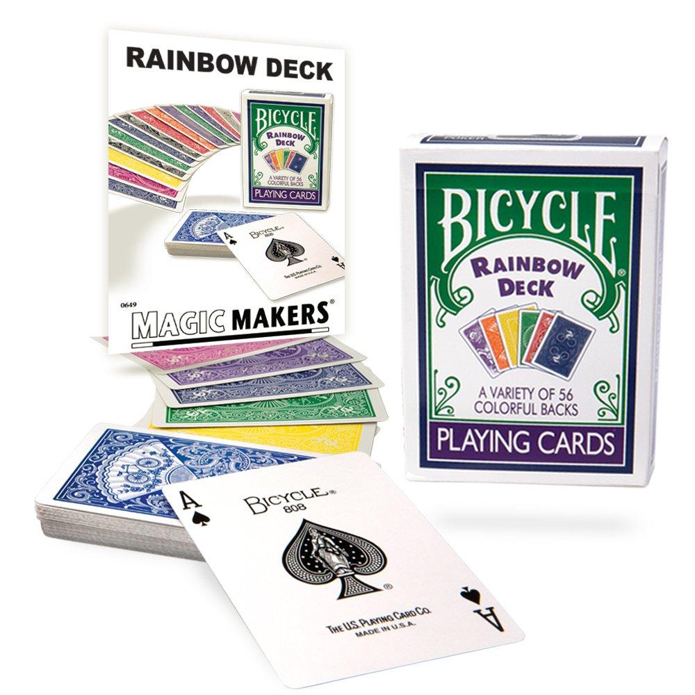 Magic Makers Rainbow Deck with Instructional Bonus Tricks