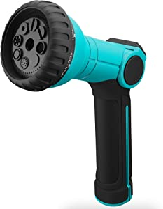 Water Hose Nozzle - Garden Hose Spray Nozzle Heavy Duty - 8 Patterns High Pressure Sprayer Hose Nozzles with Thumb Control - Outdoor Watering Lawn and Garden
