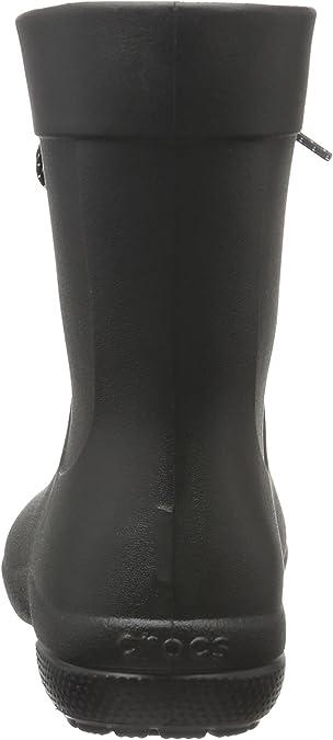 Women/'s CROCS Polka dot Lace Short Rain Boot Size 7 Roomy Fit Black New NIB