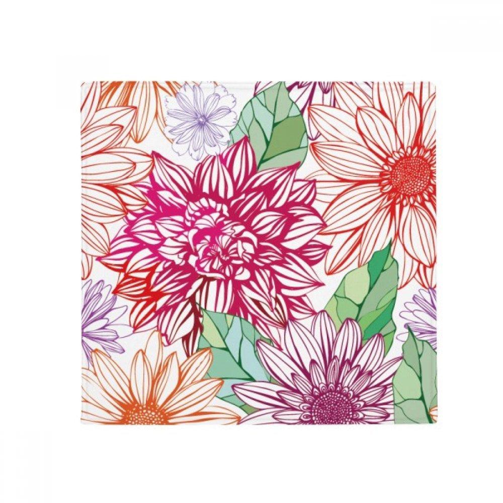 DIYthinker Colour Decoration Flower Plant Pompon Anti-Slip Floor Pet Mat Square Home Kitchen Door 80Cm Gift