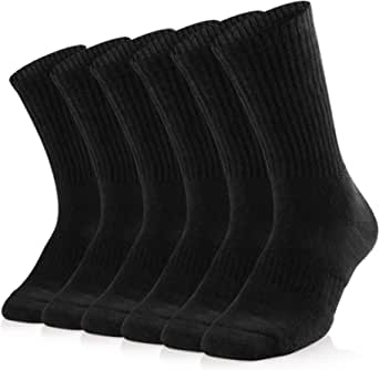Sox Town Women's Combed Cotton Moisture Wicking Performance Training Athletic Cushion Crew Socks