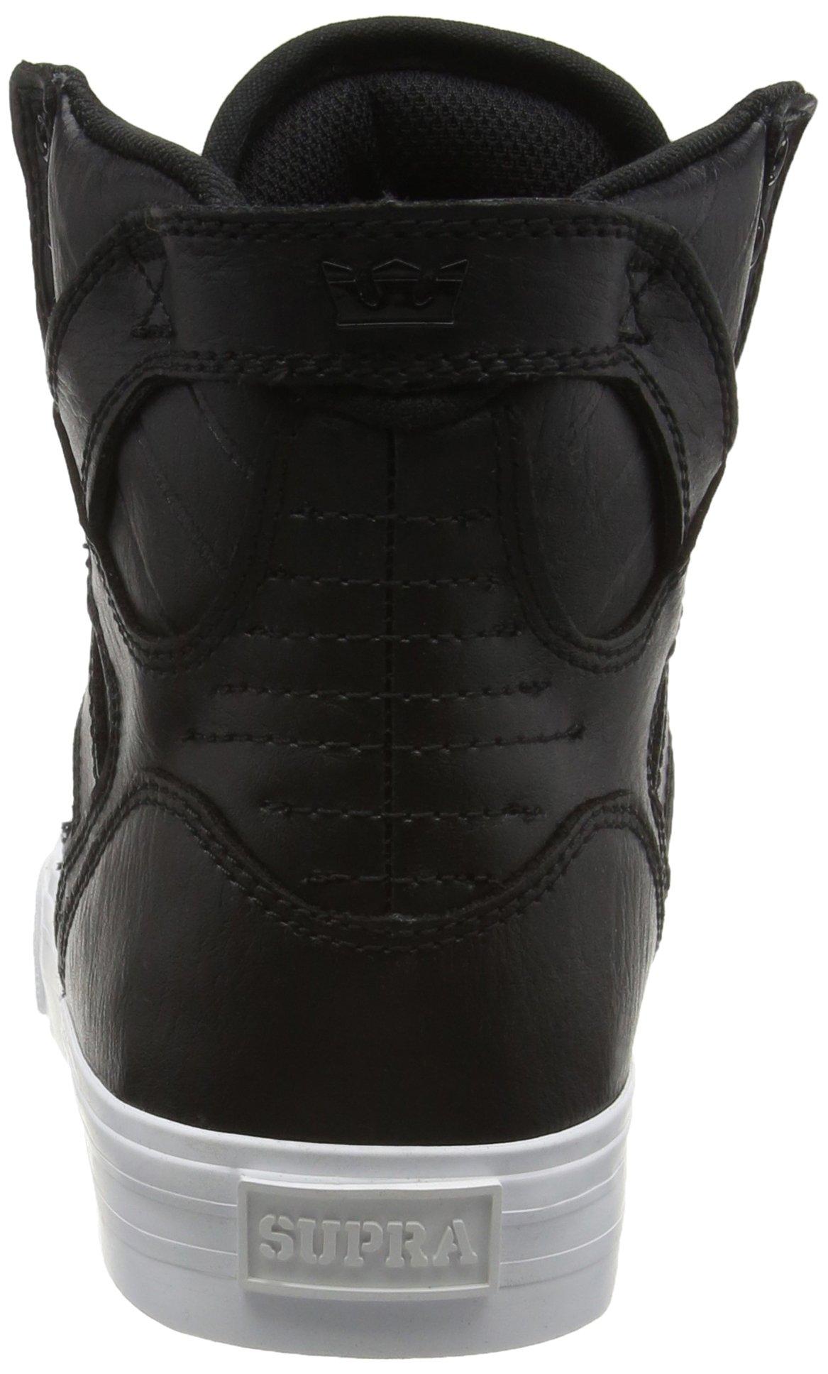 Supra Skytop Skate Shoe, Black/White, 5.5 Regular US by Supra (Image #2)
