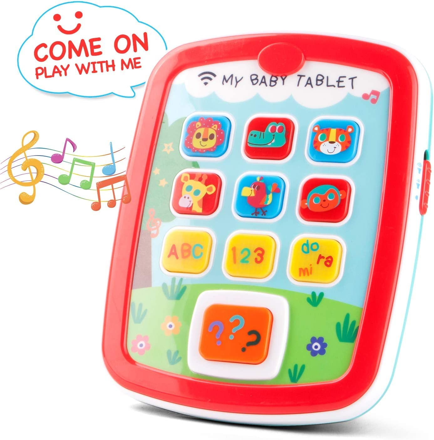 kidpal Learning Tablet Toys for 1 2 Years Old Toddler Baby Toys with Music and Light for 6-24 Months Baby My First Learning Tablet Educational Animals, Number and Color Cognative Learning