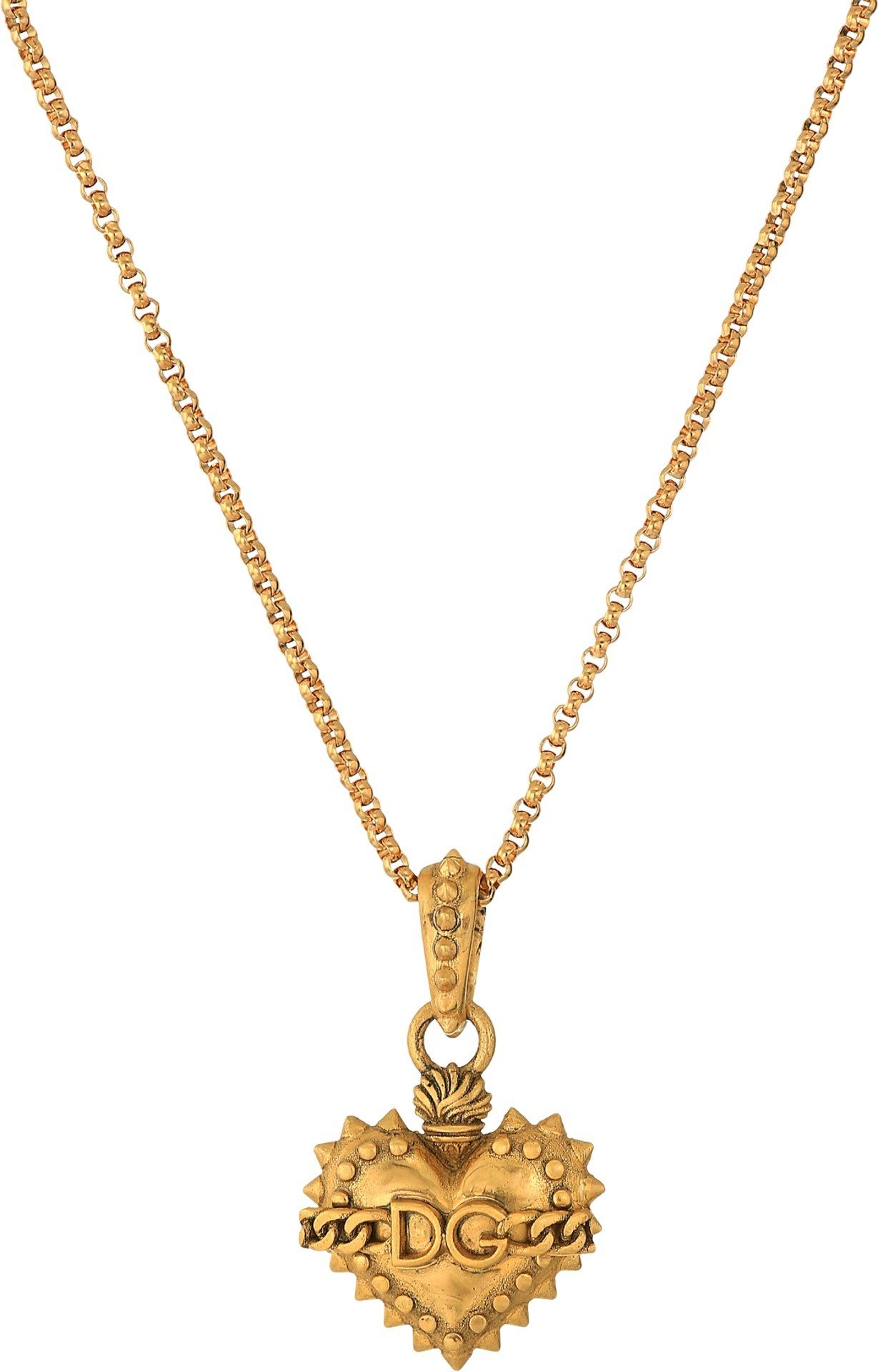 Dolce & Gabbana  Men's Heart Necklace Gold One Size