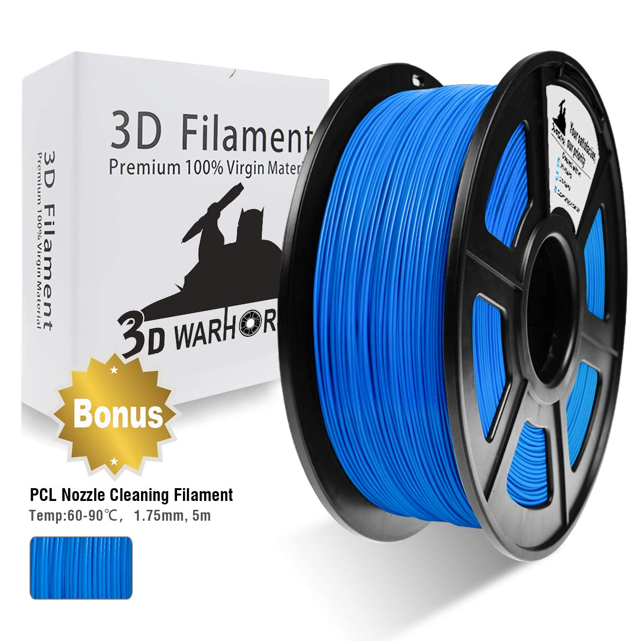 Dimensional Accuracy +//- 0.02 mm 1KG ,1.75mm Filament 2.2 LBS PLA Filament Black 3D Hero PLA Filament 1.75mm,PLA 3D Printer Filament Bonus with 5M PCL Nozzle Cleaning Filament