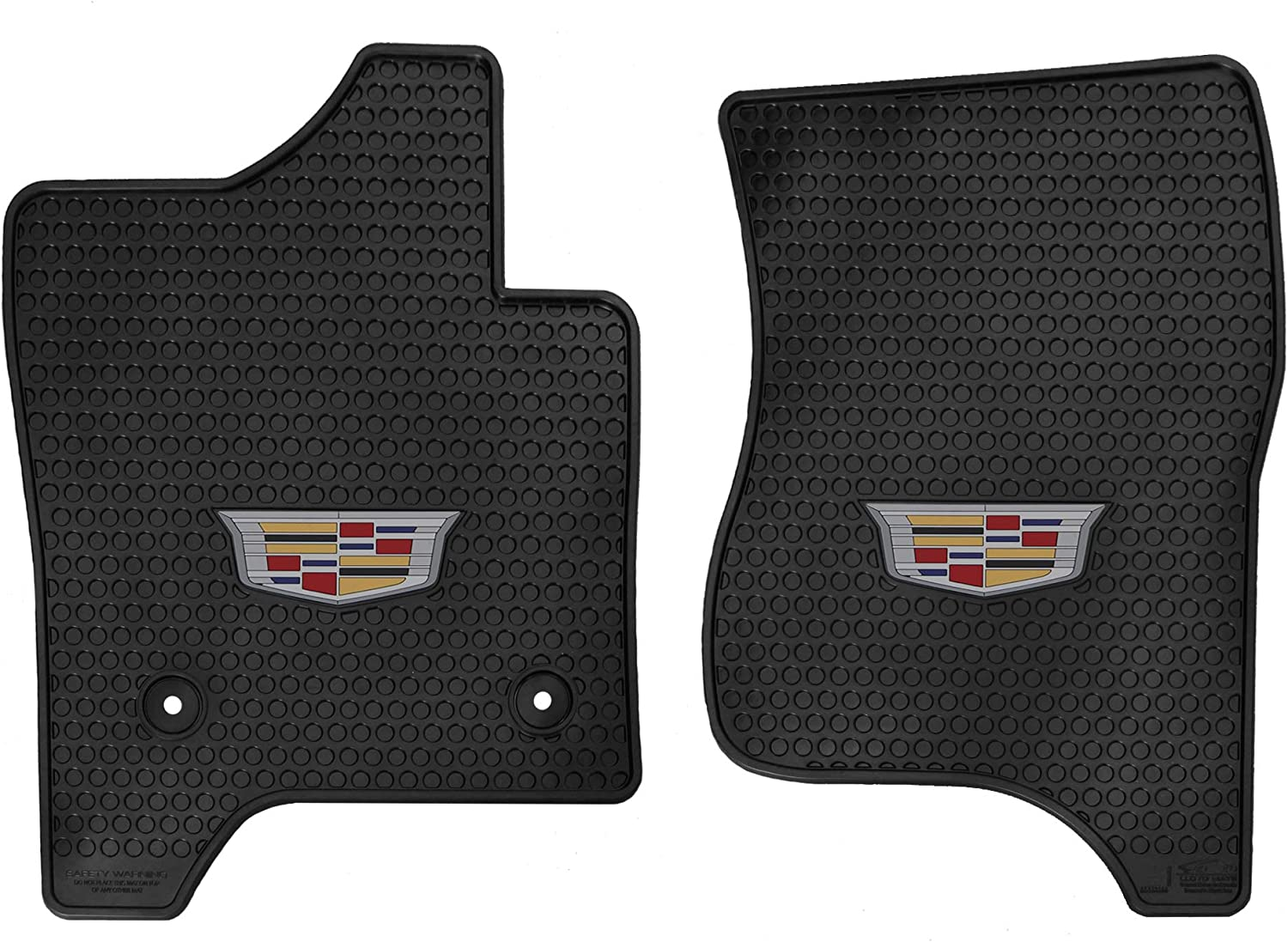 Lloyd Mats Signature Rubber All Weather Floor Mats for Cadillac Escalade 2015-2020 2PC Fronts Signature Rubber