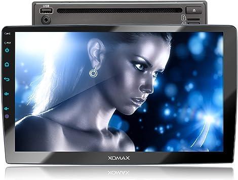 XOMAX XM-2D1006 Radio de Coche I Autoradio con Bluetooth Manos Libres I Multi Colores de