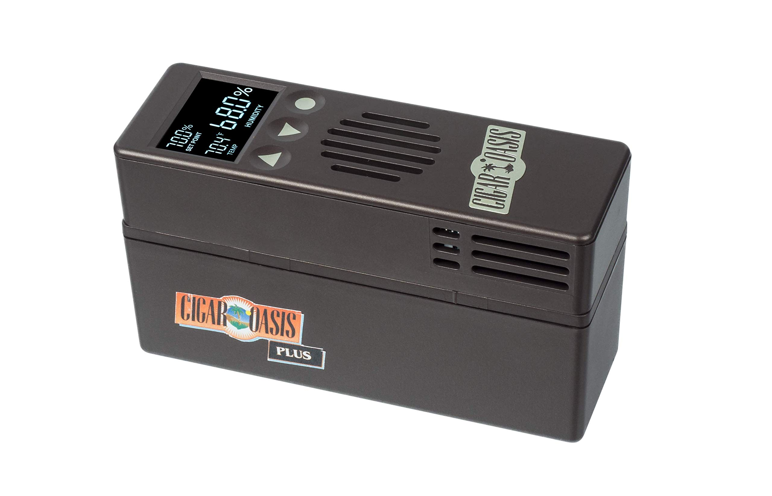 Cigar Oasis Plus 3.0 Electronic Humidifier for end-table humidors 4-10 cubic feet (300-1000 cigar capacity) by Cigar Oasis (Image #1)