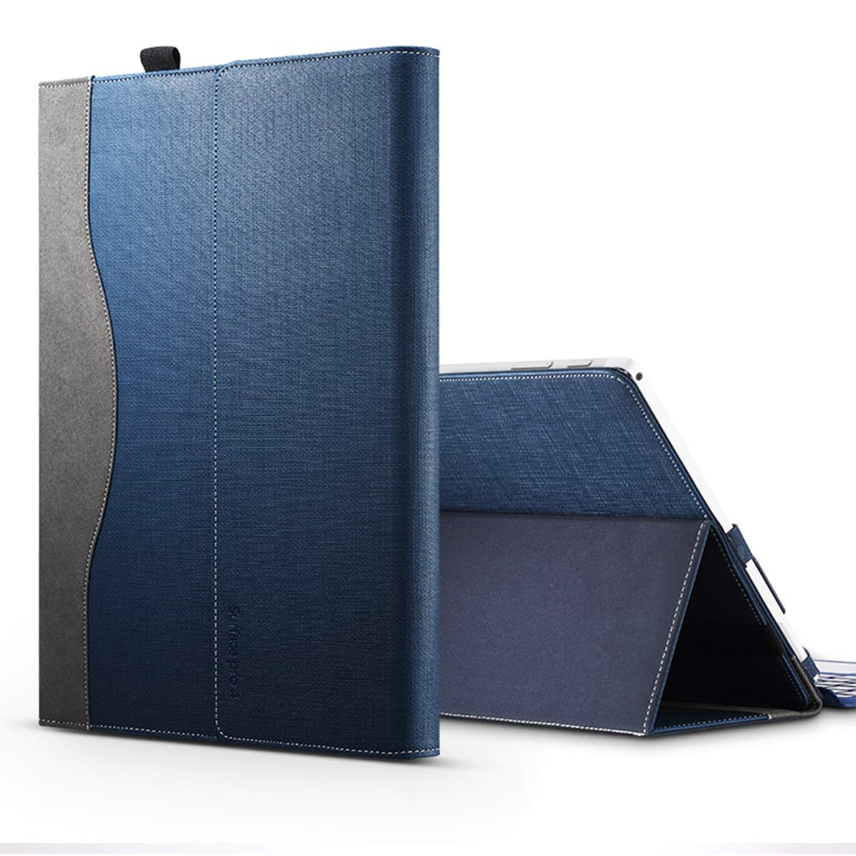 偉大な Microsoft Surface Pro フリップ 4 ケース Pro、Microsoft B07JQV2GN6 Surface Pro 4 ケース、フリップケース プレミアム PU レザー ウォレット スナップケース フリップ ケース フリップ ケース フリップ ケース 交換用 Microsoft Surface Pro 4 ブラウン, 7C05-9S-785 ネイビーブルー B07JQV2GN6, ★日本の職人技★:92a2bf4a --- 4x4.lt