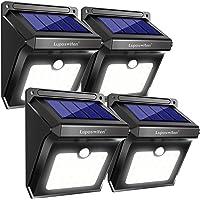 Luci Solari Esterno, [4 Pezzo] Luposwiten 28 LED Lampada Solare da Esterno, Luci Solari Giardino con Sensore Movimento, Lampade Solari pper Giardino, Pareti, Cortile, Luce Solare Illuminazione