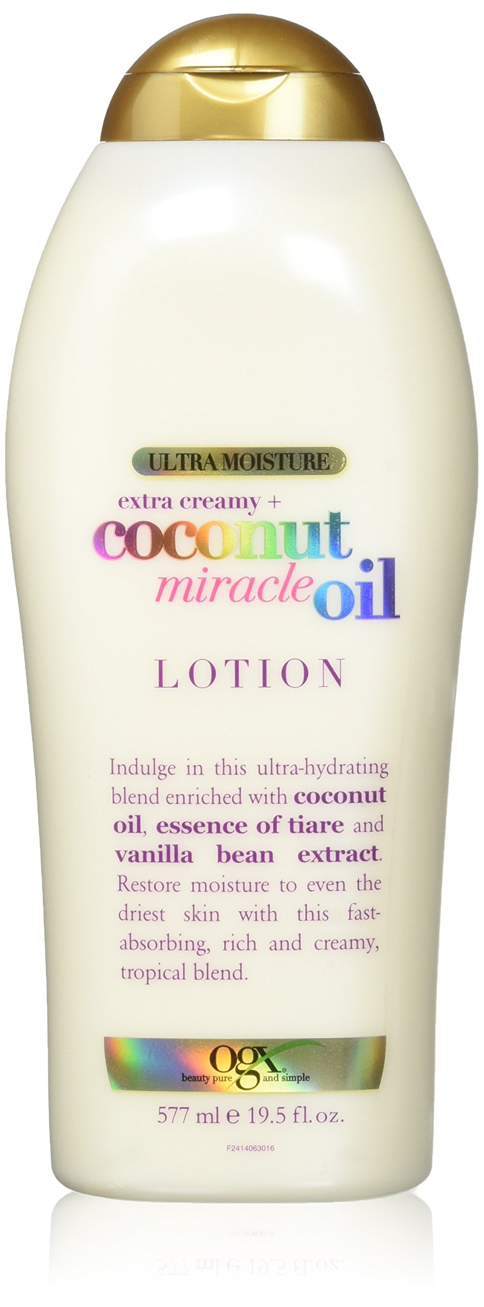 OGX Extra Creamy + Coconut Miracle Oil Ultra Moisture Lotion, 19.5 Ounce