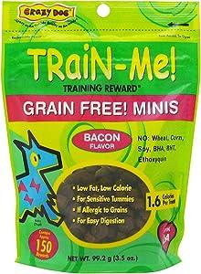 Crazy Dog Mini Training Bacon Reward Treats, 3.5 oz