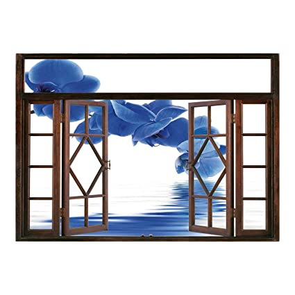 Amazon Com Scocici Removable 3d Windows Frame Wall Mural Stickers