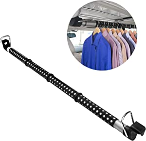 Beinhome Car Clothes Hanger Bar, Heavy Duty Car Clothes Rack Expanded to 63 inches, Suitable for Most Cars, Trucks, SUVs, Vans, RVs, Road Travelers