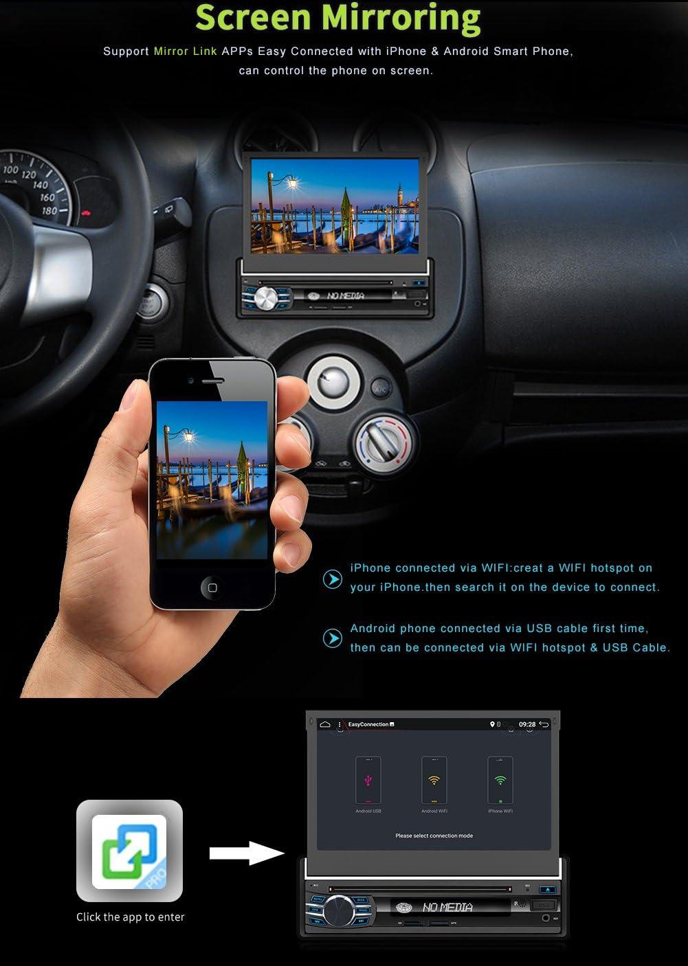 2G+32G Double DIN Android 6.0 7 pulgadas Quad-Core Bluetooth WIFI GPS Navigation estéreo digital para automóvil con panel frontal inalámbrico ...