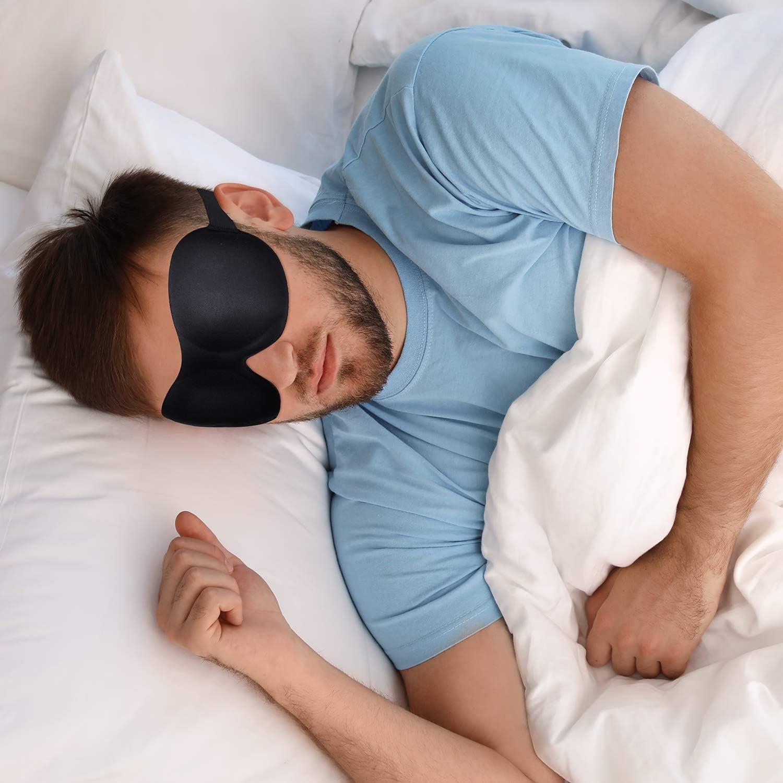 EAONE 5 Pcs Masque de sommeil pour homme et femme 3D Masque de nuit Masque de nuit r/églable Protection des yeux pour les voyages travail de couche et les siestes