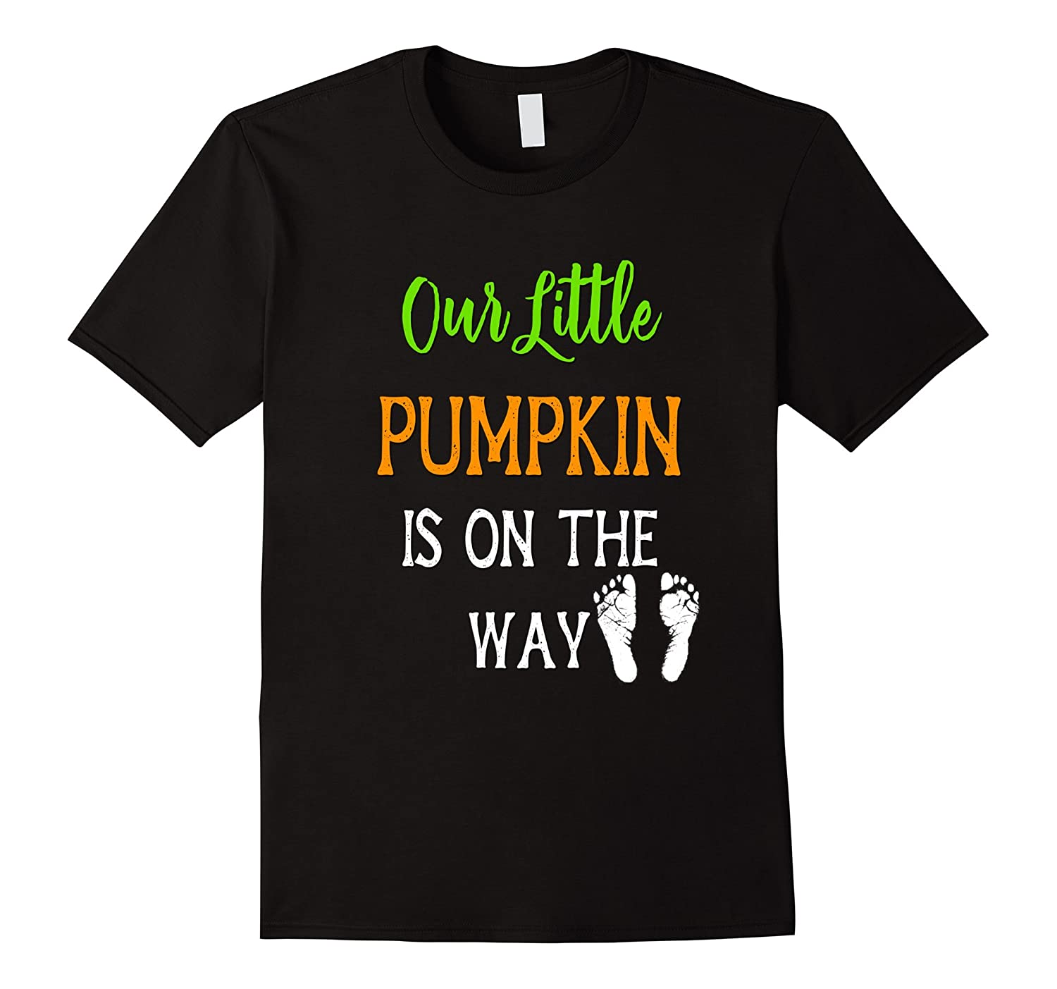 Pregnant Mom Halloween Shirt Our Little Pumpkin On The Way-Art