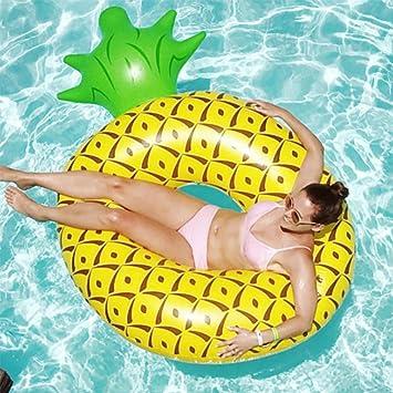 JYY Flotador De Piscina De Piña Inflable Fun Beach Swim Party Toys Piscina Island Summer Pool Raft Lounge para Adultos Niños: Amazon.es: Hogar