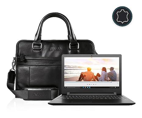 Funda Bolsa Maletín portátil para Lenovo IdeaPad 110 15 en Negro Cuero
