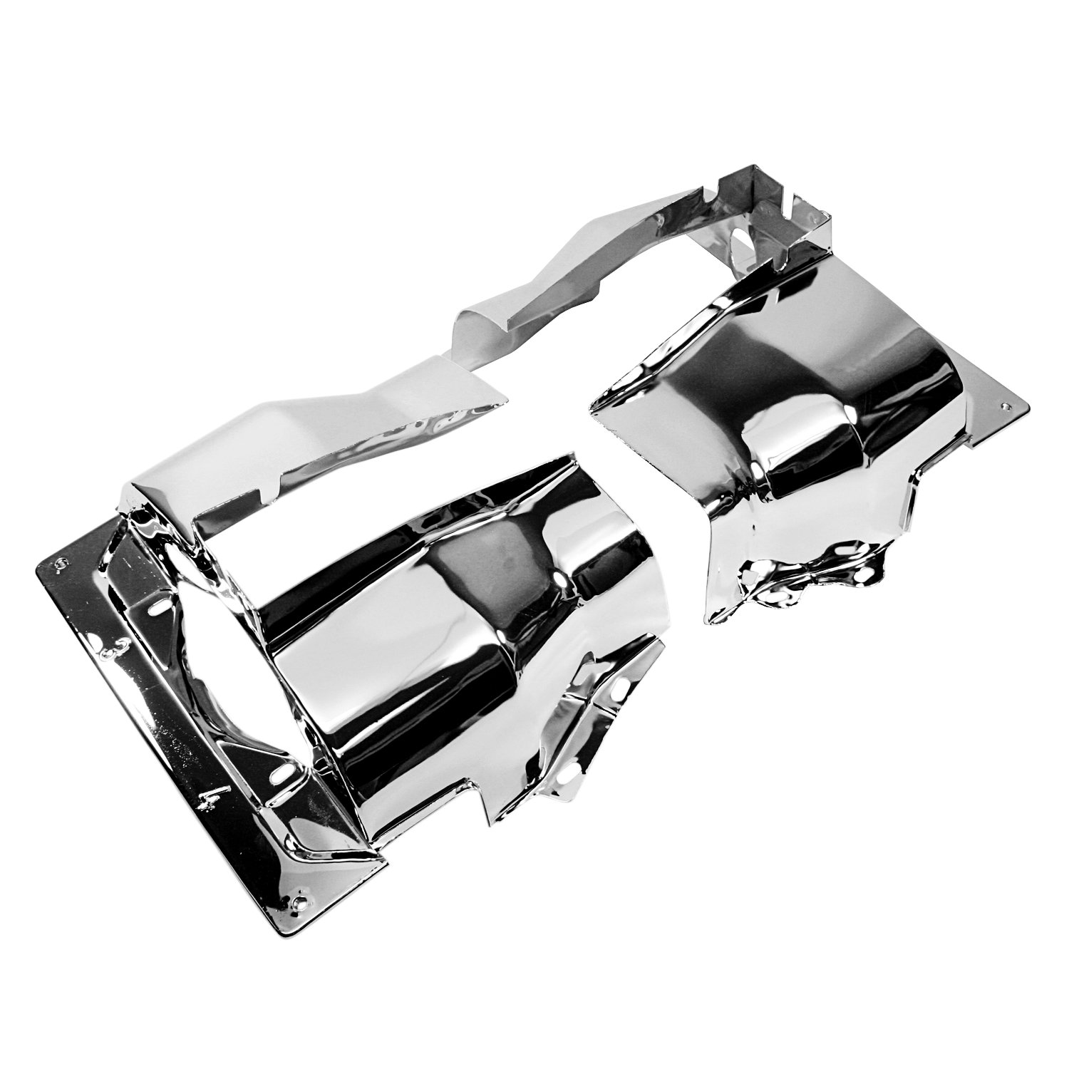 IAP Performance AC119311 Cylinder Head Tin (Chrome Dual Port Pair for VW Beetle)