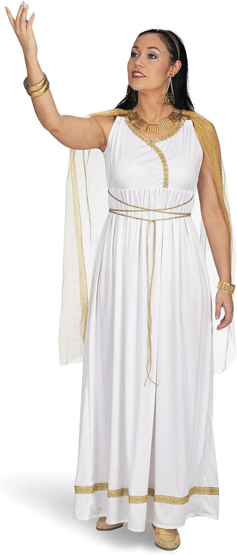 Romanas damas de disfraces diosa del vestido del traje blanco ...