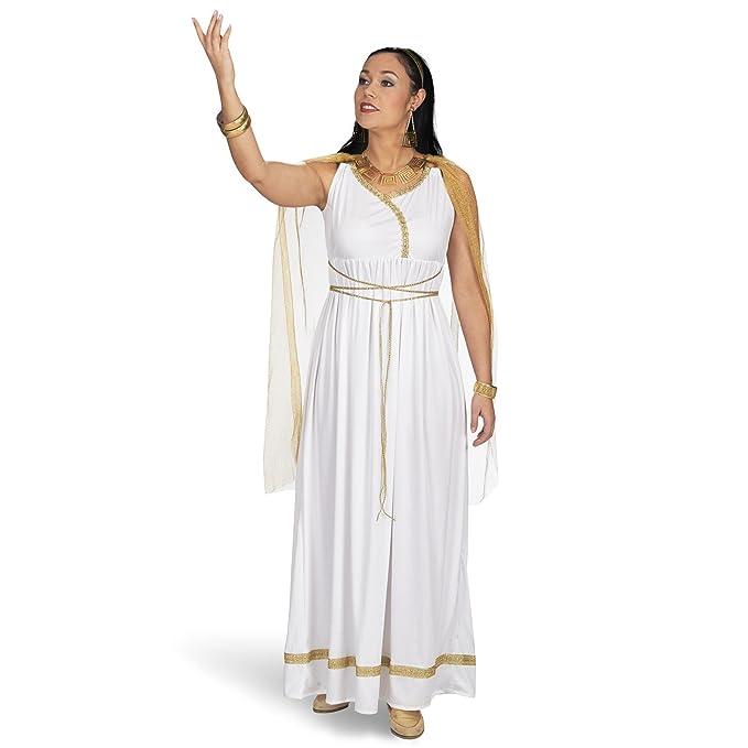 Romanas damas de disfraces diosa del vestido del traje blanco antiguo de oro: Amazon.es: Ropa y accesorios