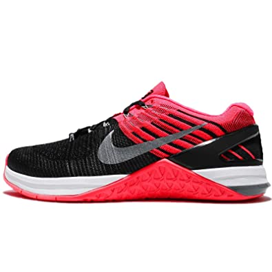 huge discount 775ab 15cbe Nike Women s WMNS Metcon DSX Flyknit, Black Cool Grey-Hyper Punch, 7.5