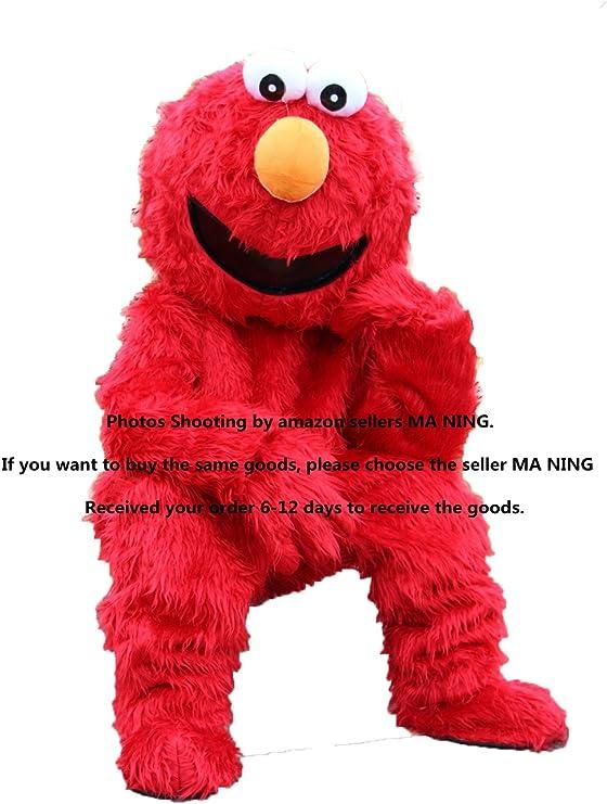Elmo mascota traje del monstruo Barrio Sésamo elegante vestido de ...