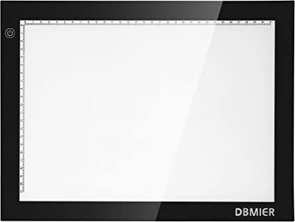 Dbmier A4 LED Ultra-thin Artcraft Tracing Light Pad with Acrylics 110v AC Power Adapter & Adjustable Brightness 8.27 X 12.20-Inch Accessories at amazon