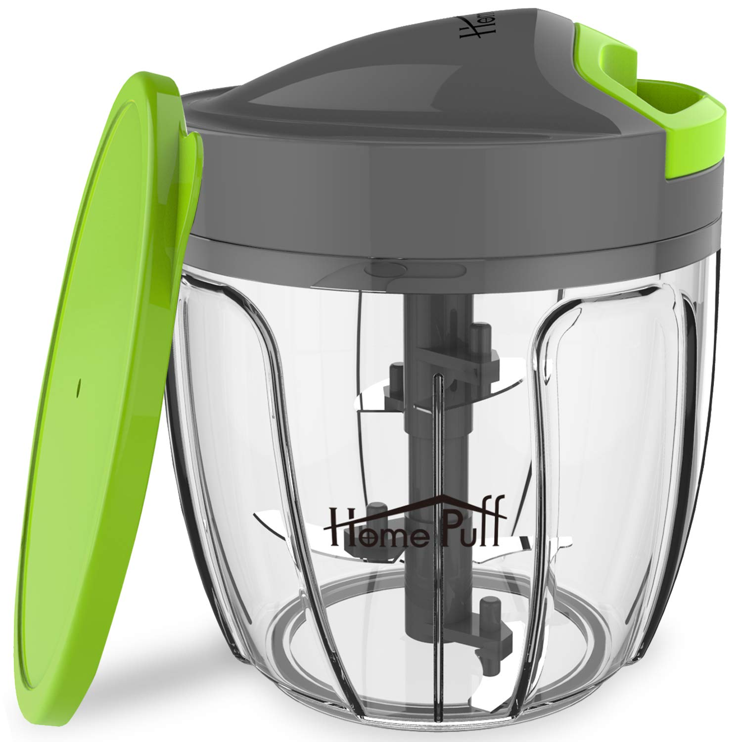 Home Puff Plastic 5 Blades Vegetable Chopper with Storage Lid, 900ml