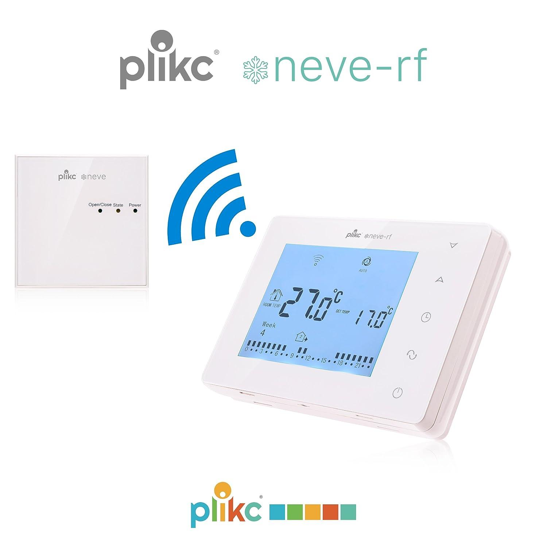 Cronotermostato semanal digital e inalámbrico Plikc - Neve-rf - PLK267611: Amazon.es: Bricolaje y herramientas