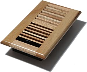 Decor Grates WL408-N Floor Register, 4-Inch by 8-Inch, Natural Oak