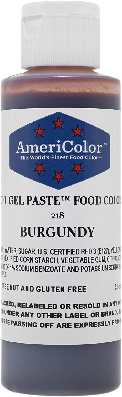 Americolor Soft Gel Paste Food Color, 4.5-Ounce, Burgundy
