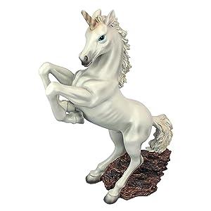 Design Toscano Enchanted Unicorn Horse Garden Statue, 16 Inch, Polyresin, Full Color