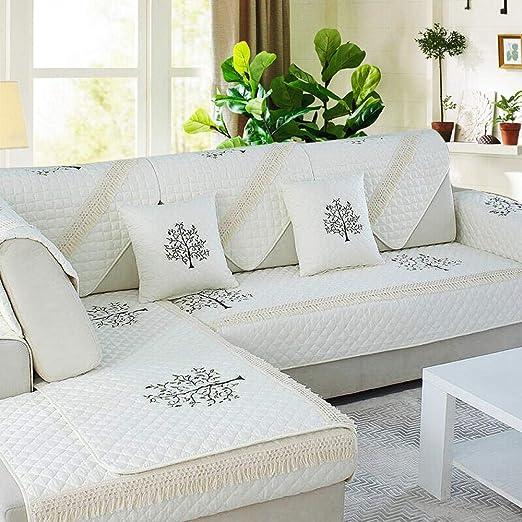 Juego Fundas Sofa,Cojín de sofá de algodón Funda de sofá de ...