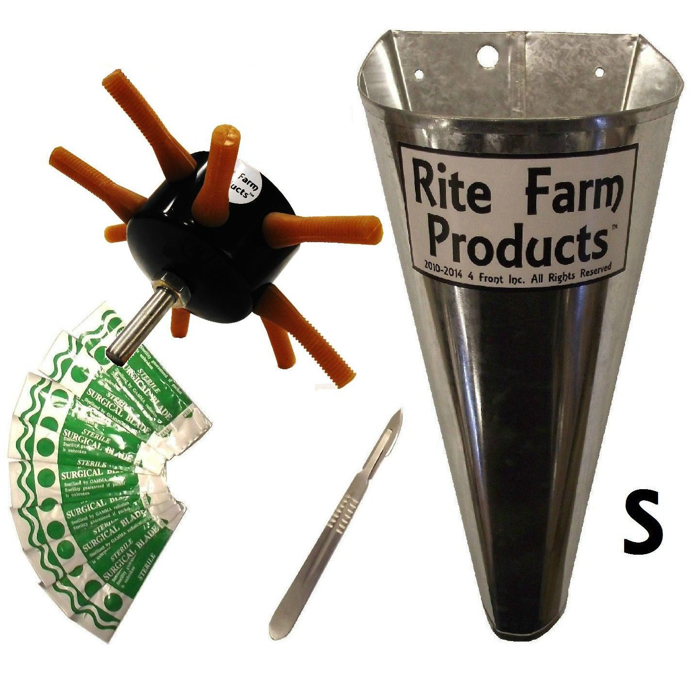 S8 RITE FARM DRILL CHICKEN PLUCKER KIT SMALL KILL CONE 10 BLADES & SCALPEL POULTRY by Rite Farm Products