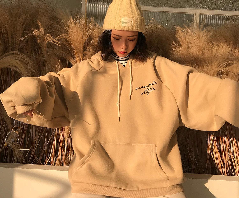 Hoodie Women Sweatshirts Winter Elegant Leisure Hooded Solid Letter Printed Long Sleeve
