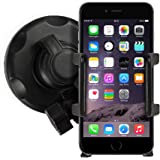 iPhone In Car Holder Windscreen Suction Mount for Apple iPhone 7/7 Plus 6 6S 6/6S Plus, 4 4S, iPhone 5 5S 5C - Mobile Accessories By Sunwire®