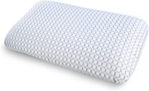 Ambesonne Orthopedic Visco Foam Pillow with Inner and Outer Covers, Healthy Material Elastic Cool to Touch Hotel Quality Comfortable Microfiber Sham, 36
